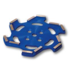 plateau diamant premium 250 mm bleu pour sols tendres