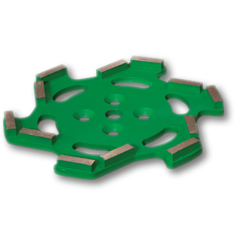 plateau diamant premium 250 mm vert pour sols à dureté moyenne