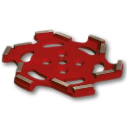 plateau diamant premium 250 mm rouge pour sols durs
