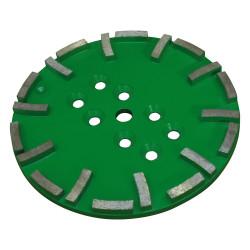 plateau diamant 250 mm vert pour sols à dureté moyenne