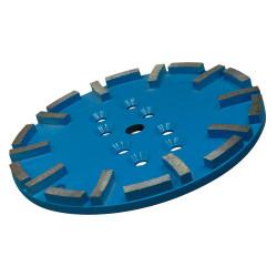 plateau diamant 250 mm bleu pour sols tendres