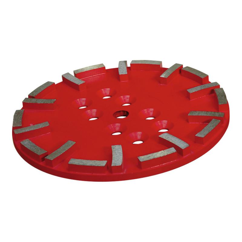 plateau diamant 250 mm rouge pour sols durs