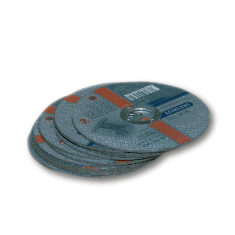 disque à tronçonner inox plat 125 mm, alésage 22,2 mm