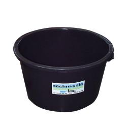bac à eau rond 40 litres noir