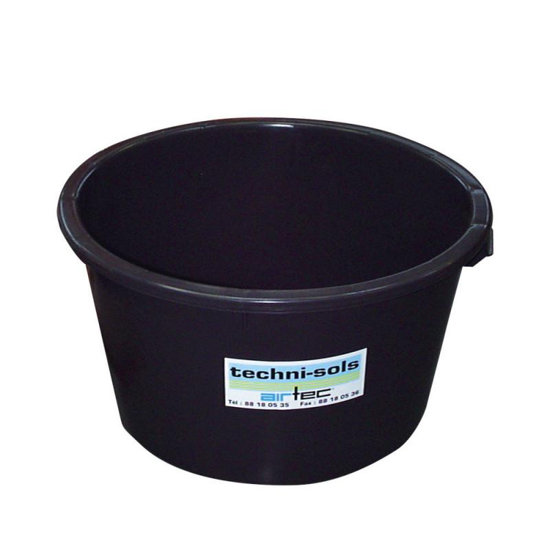 bac à eau rond 65 litres noir