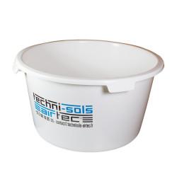 bac à eau rond renfoncé 90 litres blanc