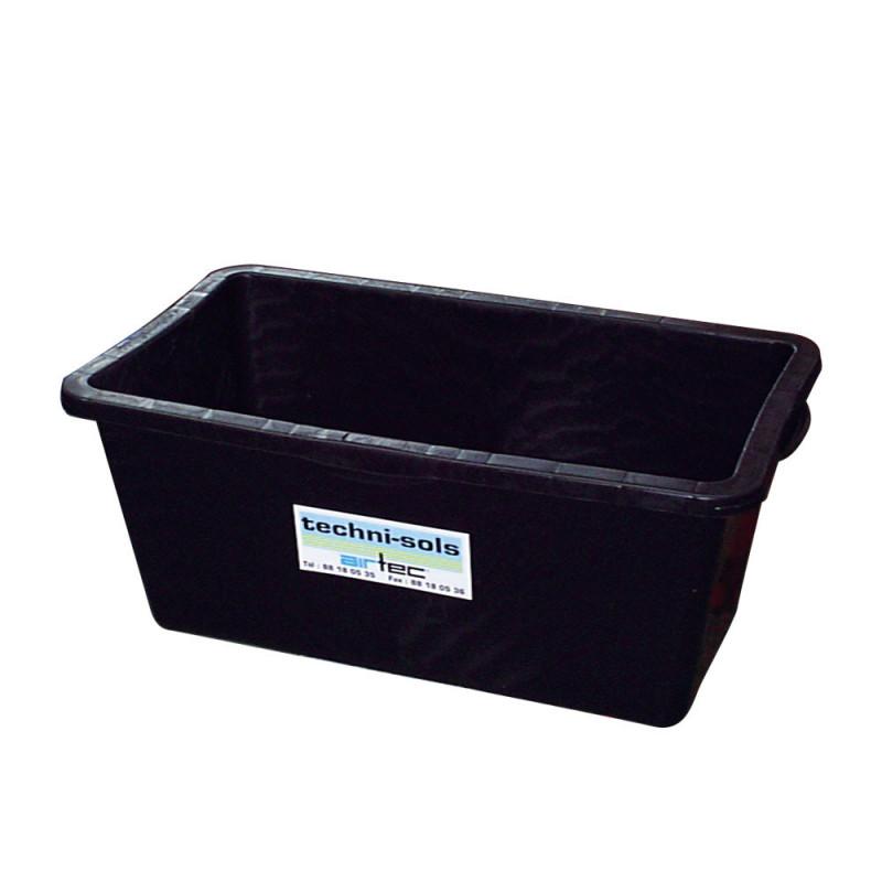Bac rectangulaire 65 litres noir