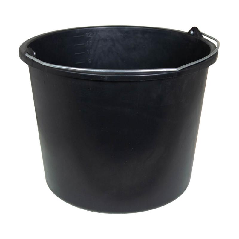 Seau de ménage 10 litres en plastique noir