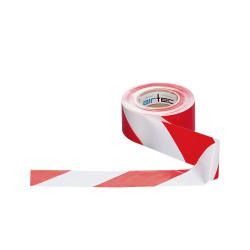 Ruban de sécurité rouge et blanc, de 50 mm par 100 m