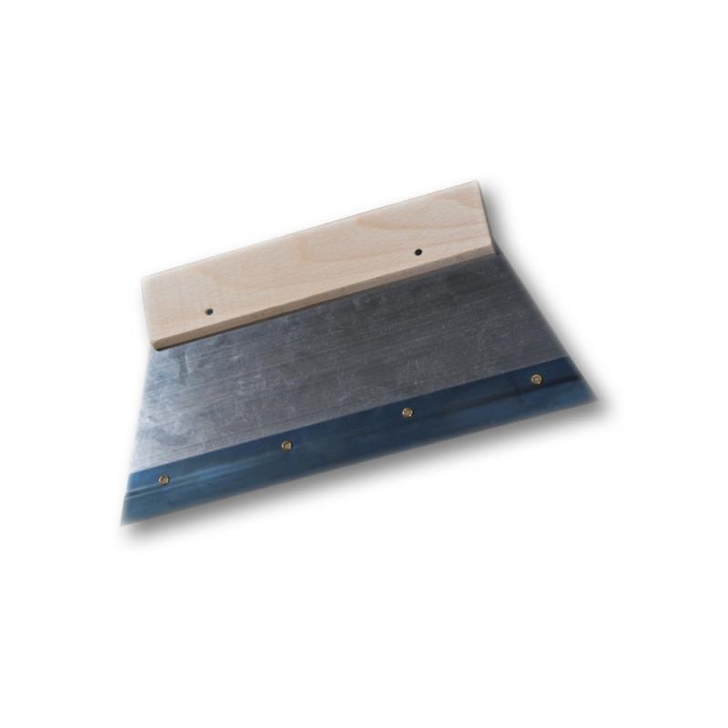 Raclette acier zingué sur support bois pour application des résines