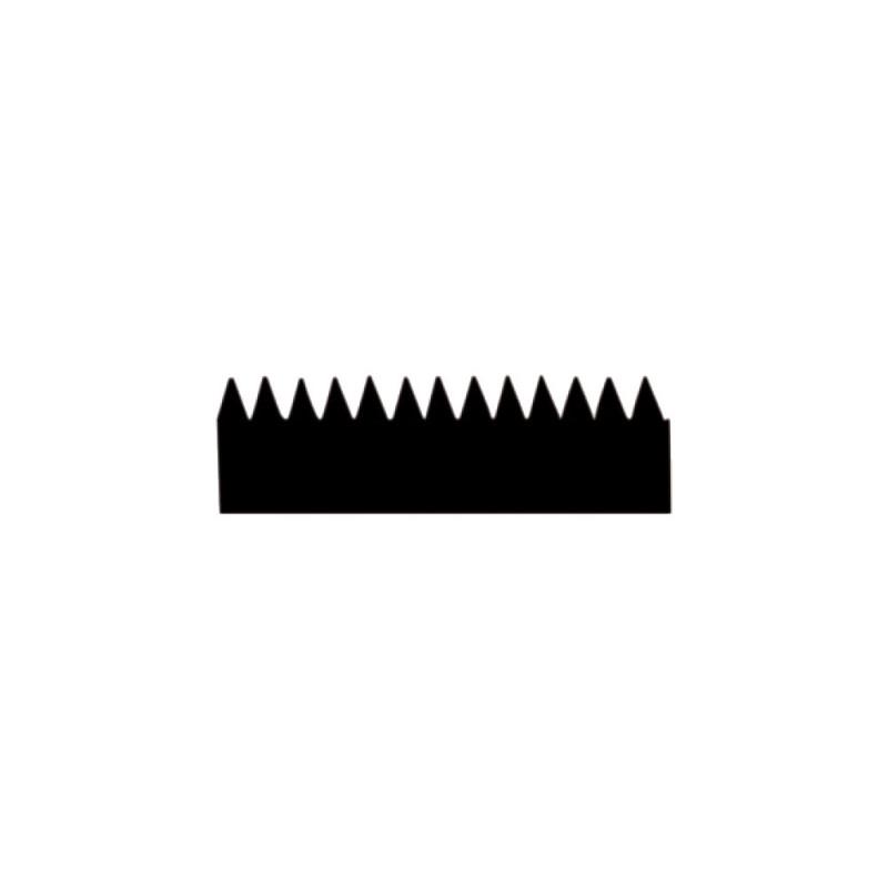 Lame de rechange pour raclette 28 cm avec dents de 2,8 mm