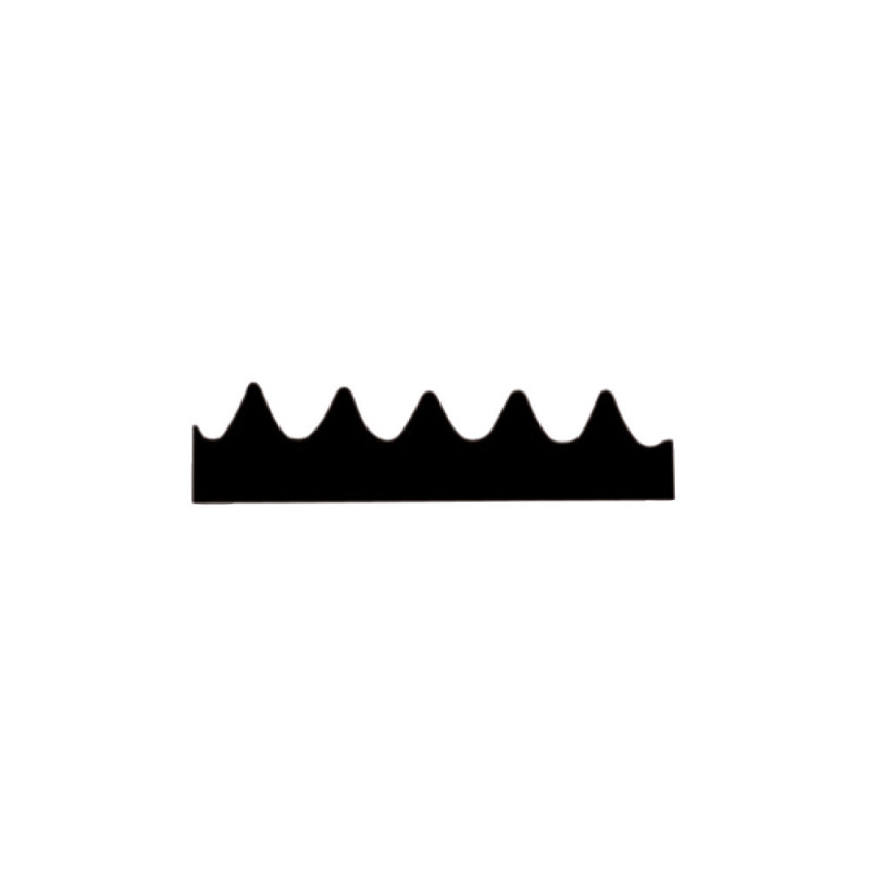 Lame de rechange pour raclette 28 cm avec dents de 3,4 mm