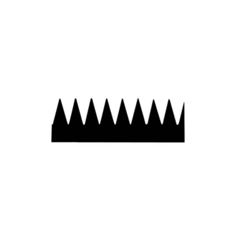 Lame de rechange pour raclette 28 cm avec dents de 4,4 mm