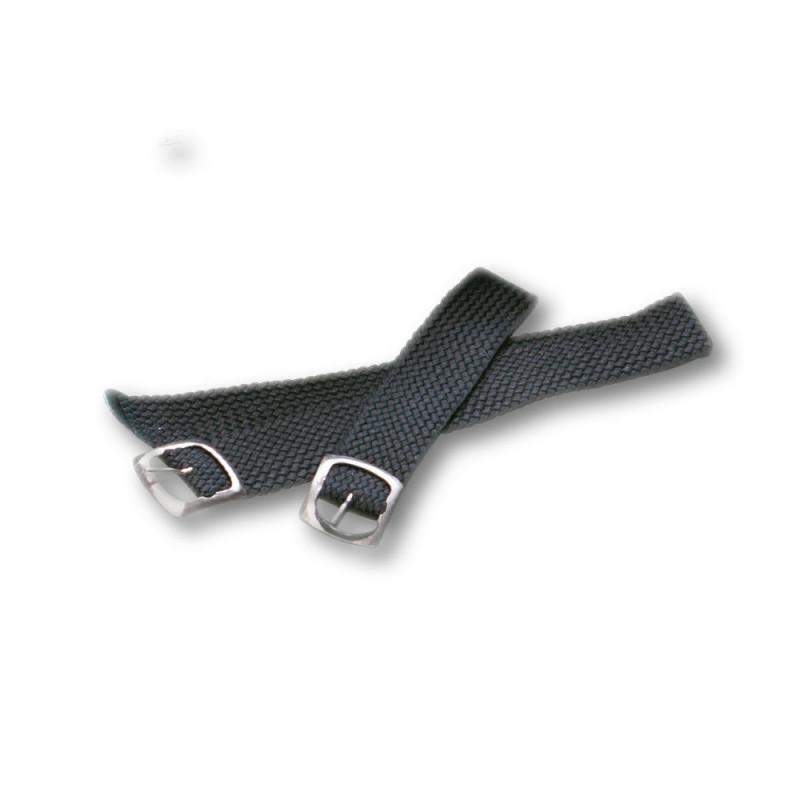 lanière courte noir pour semelles cloutées