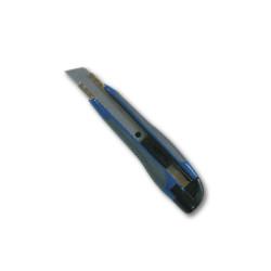 Cutter ergonomique gris avec lame de découpe