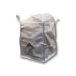 Grand sac blanc neutre sans sache, 90 x 90 x 110 cm et 4,5 tonnes