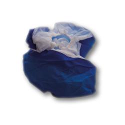 Sur-chaussures bleu en papier pour travaux, taille unique