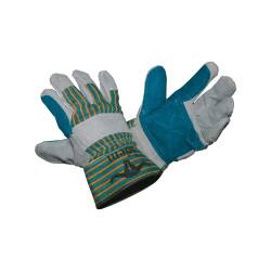 Paire de gants en cuir et tissus pour travaux