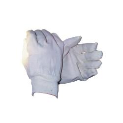 Paire de gants blancs en coton pour travaux