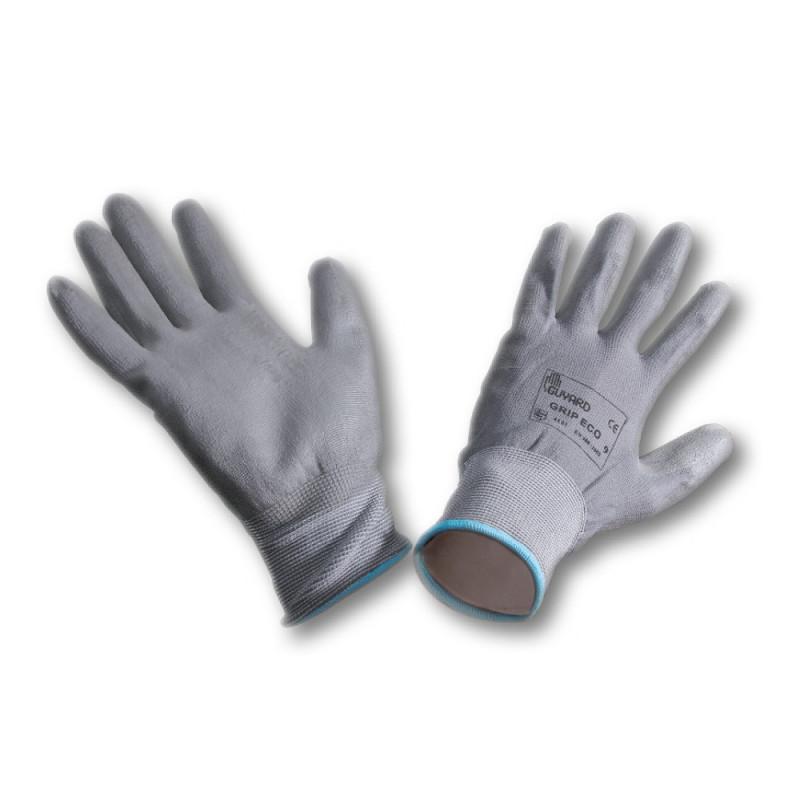 Paire de gants enduit blancs