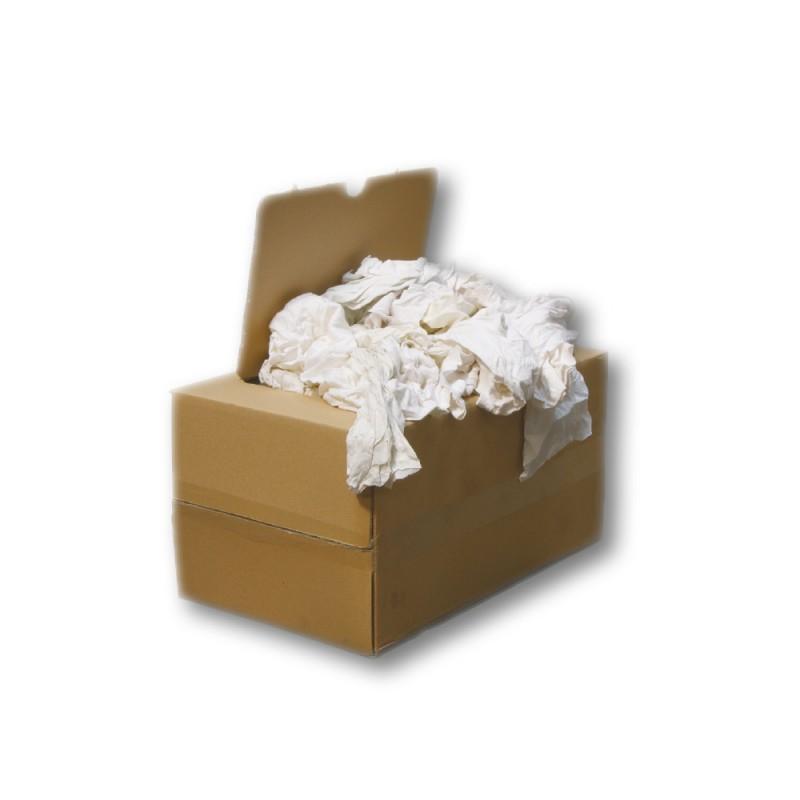 Chiffons blancs 100% coton pour travaux