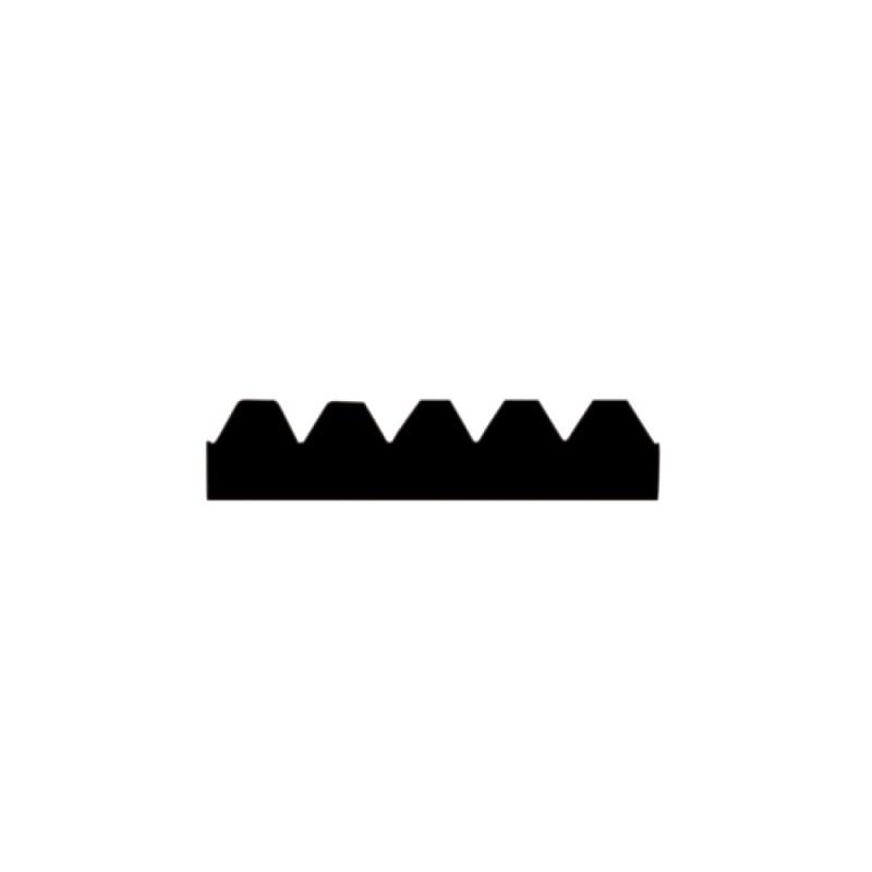Lame de rechange pour raclette 28 cm avec dents de 2,6 mm