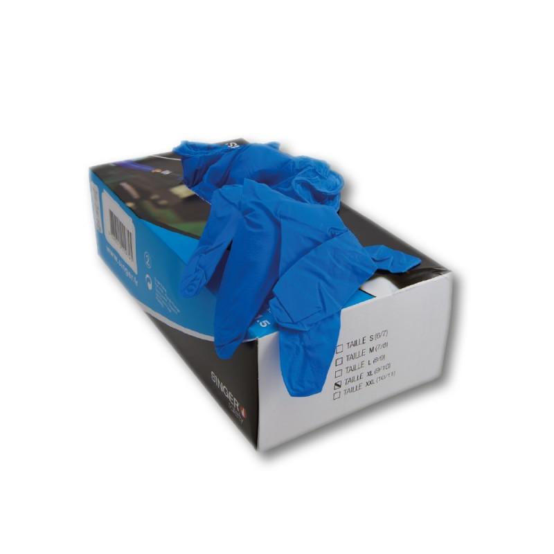 Boîte de 100 gants jetables en nitrile