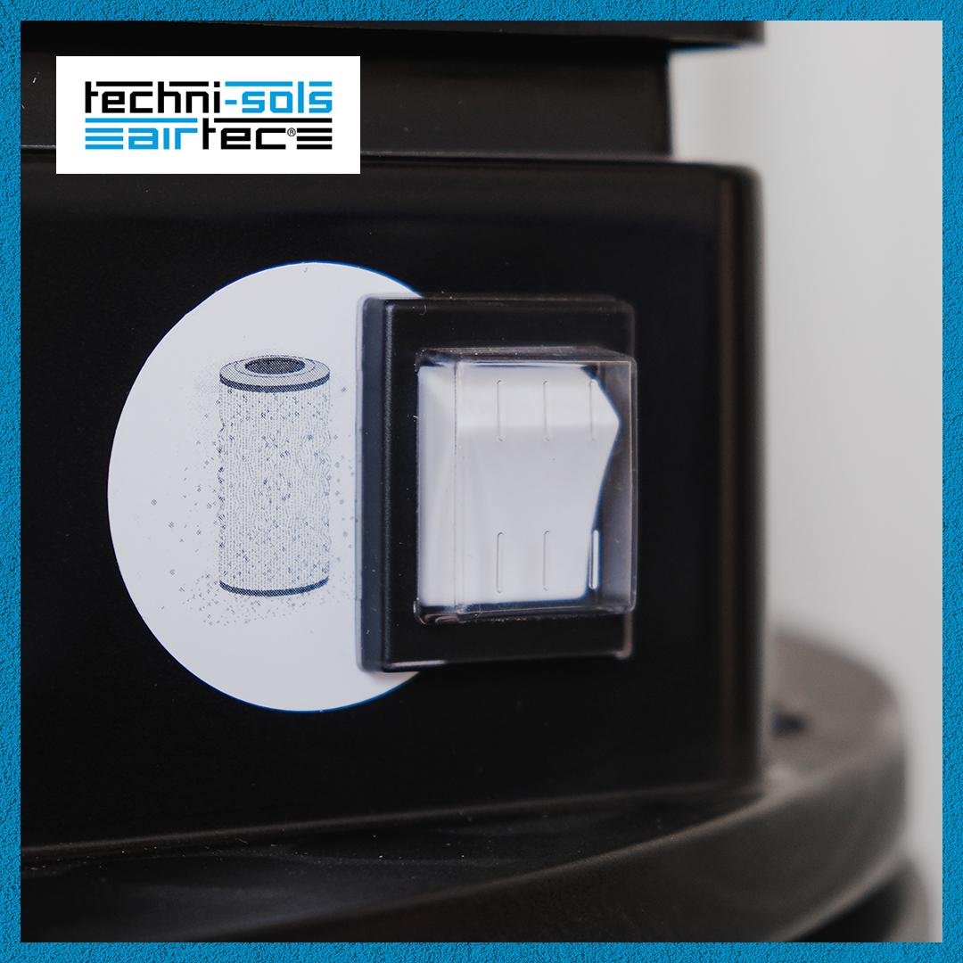 Interrupteur d'aspirateur industriel TNS compact décolmatage automatique
